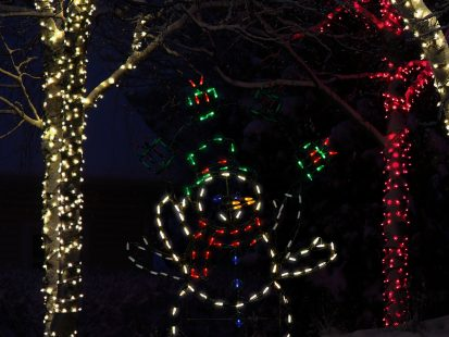 42-Inch Pre-Lit Multi-Color LED Animotion Snowman Gifts Yard Art Christmas Decorations