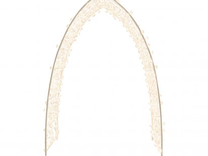 88″ Archway for Weddings and Parties, 500 Count Warm White LED Floral Cap with Translucent Cord and 8 Lighting Functions